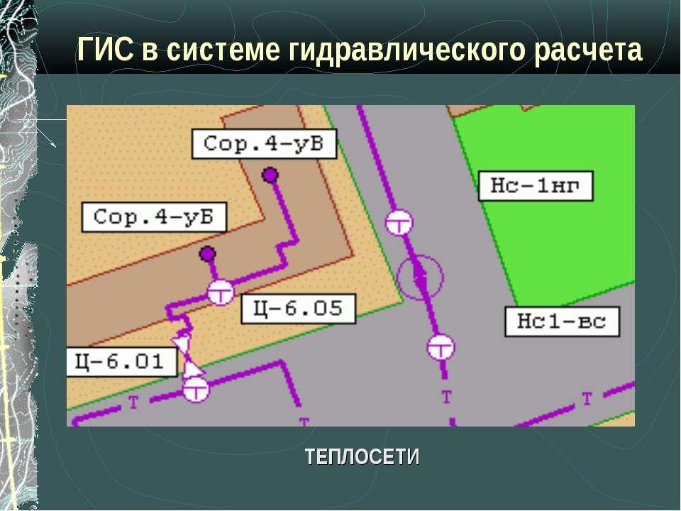 ГИС в системе гидравлического расчета ТЕПЛОСЕТИ