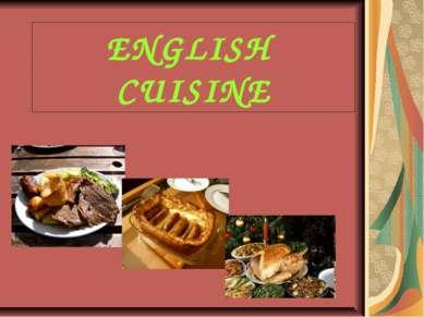 ENGLISH CUISINE