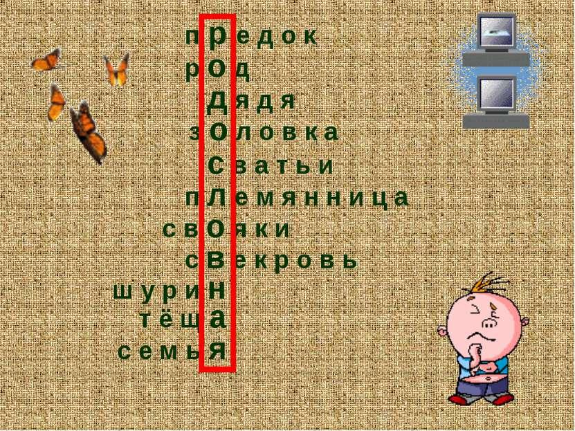 п р е д о к р о д д я д я з о л о в к а с в а т ь и с в о я к и с в е к р о в...