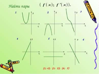 Найти пары x x x y y y x x x y y y 1 2 3 4 5 6 (1; 4); (3; 2); (6; 5)