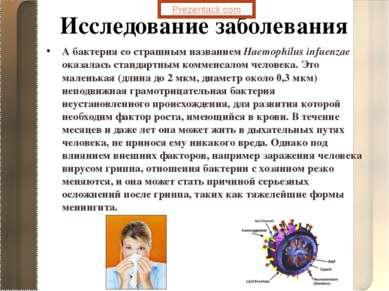 А бактерия со страшным названием Haemophilus infuenzae оказалась стандартным ...