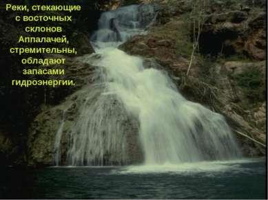 Реки, стекающие с восточных склонов Аппалачей, стремительны, обладают запасам...