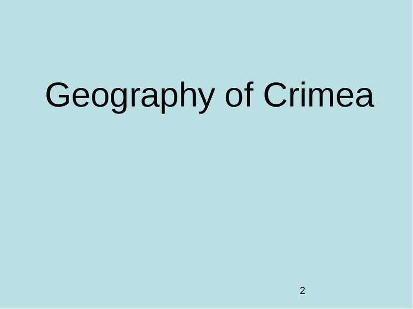 Geography of Crimea