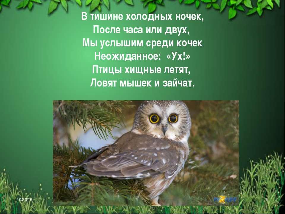 В тишине холодных ночек, После часа или двух, Мы услышим среди кочек Неожидан...