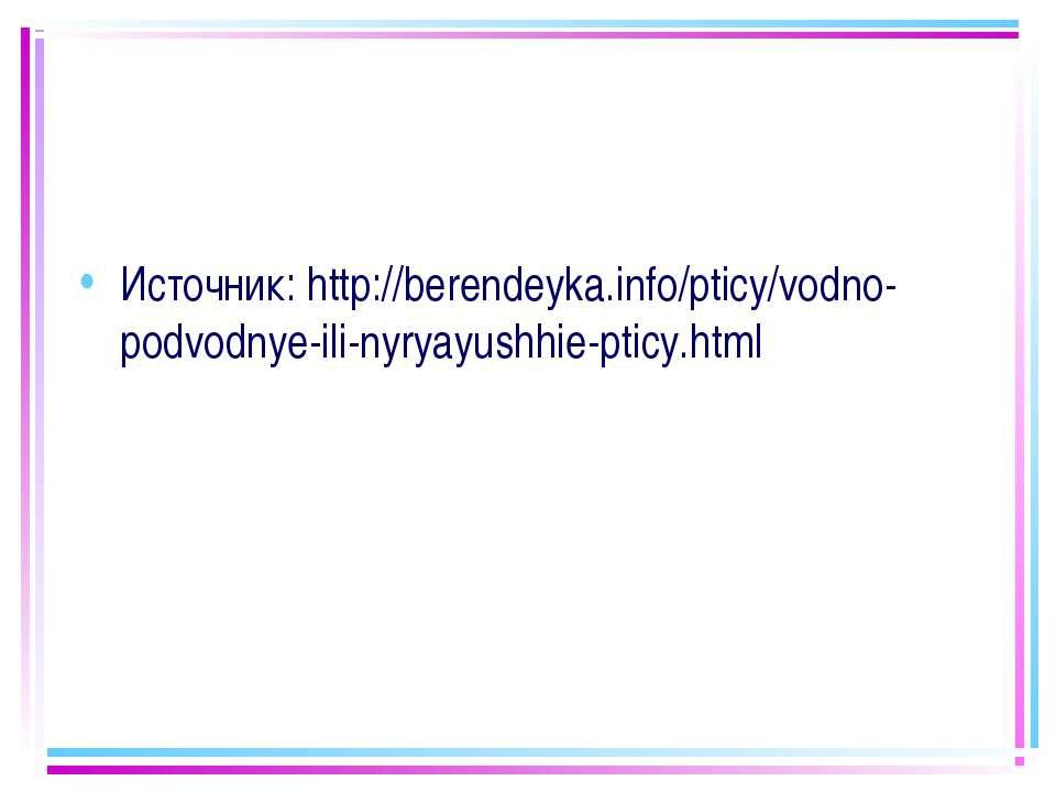 Источник:http://berendeyka.info/pticy/vodno-podvodnye-ili-nyryayushhie-pticy...
