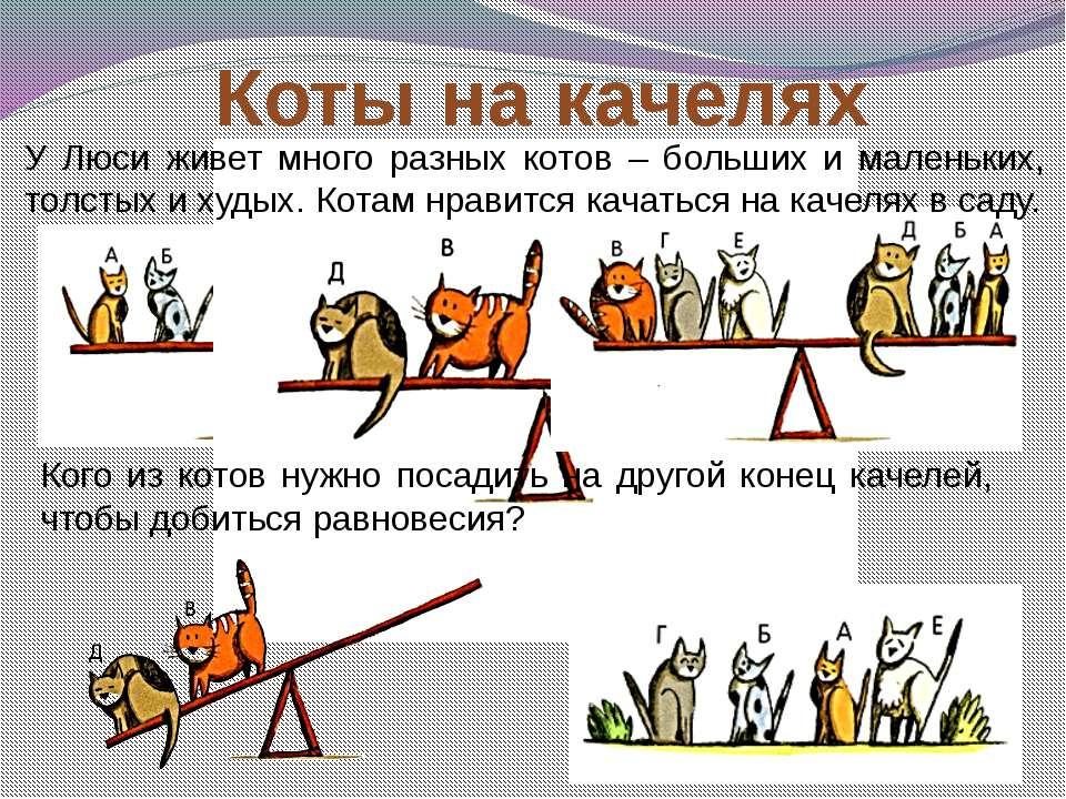 Коты на качелях У Люси живет много разных котов – больших и маленьких, толсты...