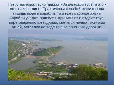 Петропавловск тесно прижат к Авачинской губе, и это - его главное лицо. Практ...
