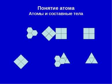 Понятие атома Атомы и составные тела
