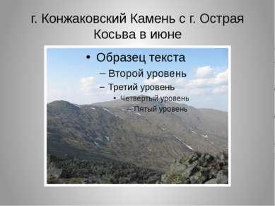 г. Конжаковский Камень с г. Острая Косьва в июне