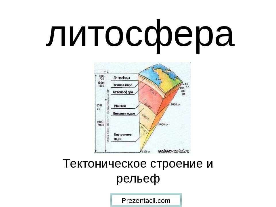 литосфера Тектоническое строение и рельеф