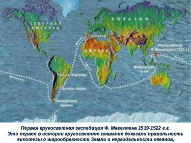 Первая кругосветная экспедиция Ф. Магеллана 1519-1522 г.г. Это первое в истор...
