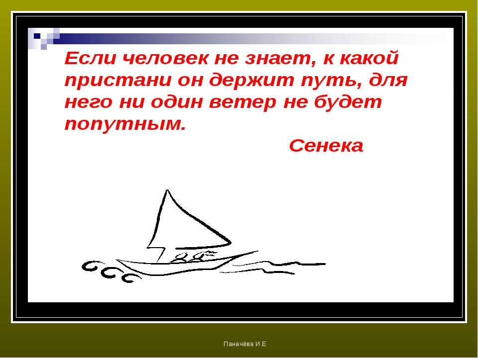 Паначёва И.Е Паначёва И.Е