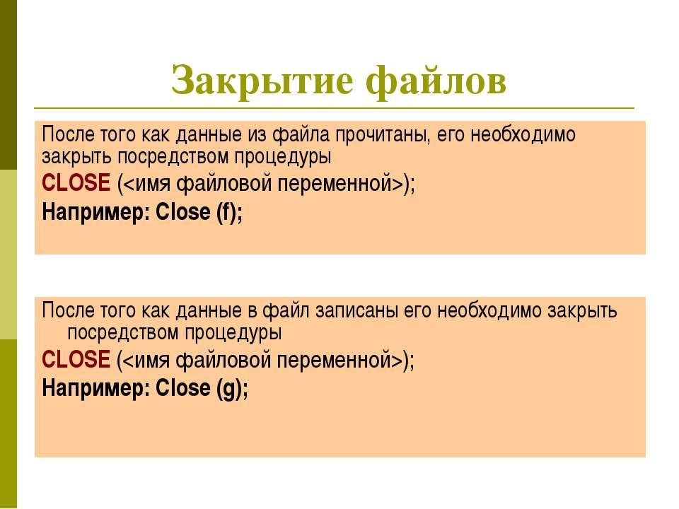 учитель информатики и ИКТ Дугина И.Р. Закрытие файлов После того как данные и...