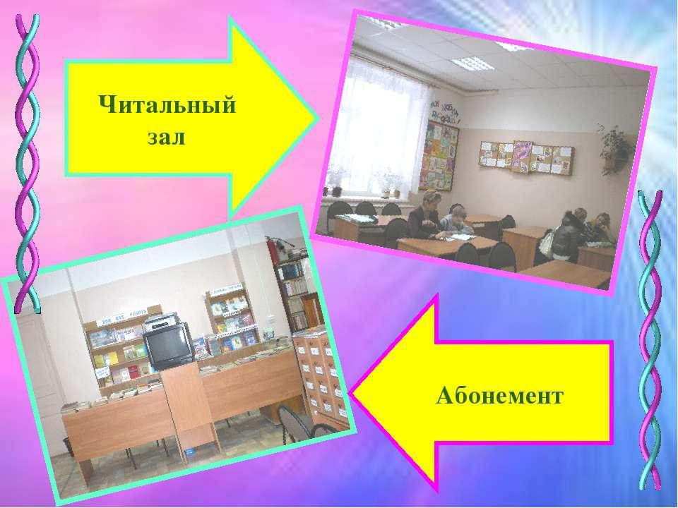 Читальный зал Абонемент
