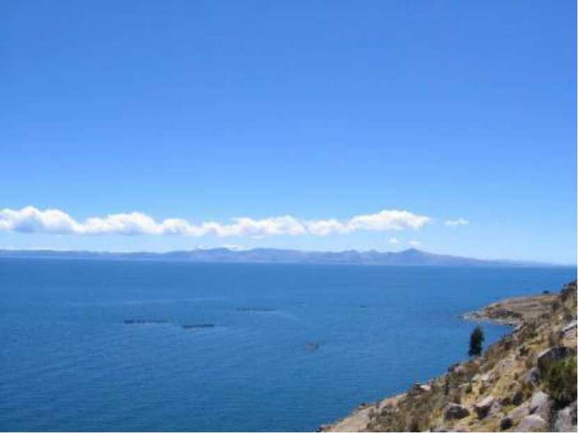 САМОЕ БОЛЬШОЕ ВЫСОКОГОРНОЕ ОЗЕРО: Титикака, Перу -Боливия, 8248кв. км (320...