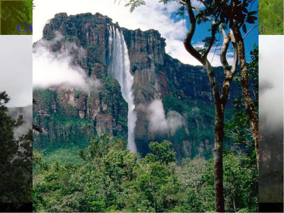 САМЫЙ ВЫСОКИЙ ВМИРЕ ВОДОПАД: Анхель (водопад Ангелов), Венесуэла, 979м (32...