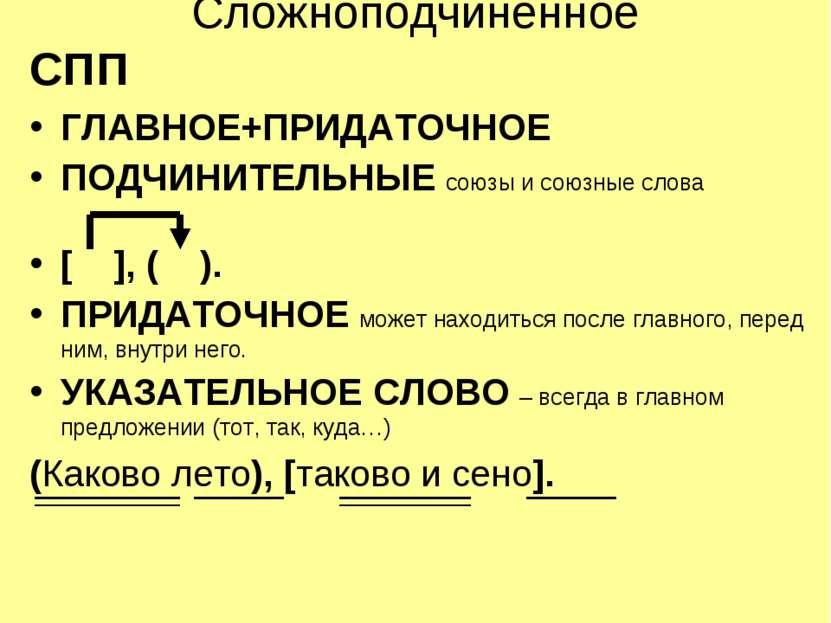 Сложноподчинённое СПП ГЛАВНОЕ+ПРИДАТОЧНОЕ ПОДЧИНИТЕЛЬНЫЕ союзы и союзные слов...