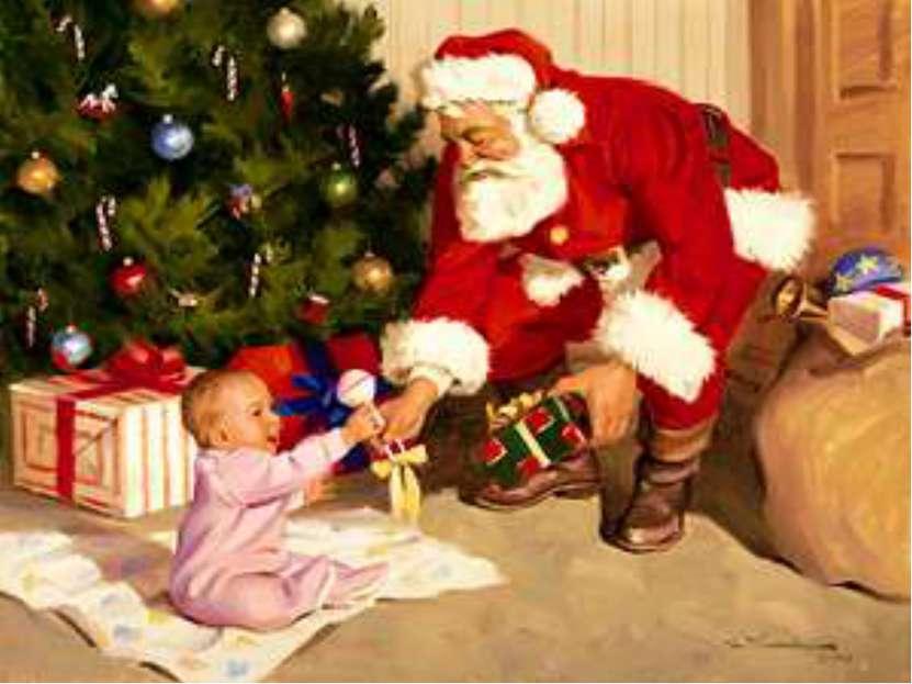 Считают, что подарки детям носит святой Николай. Святой Николаус – зовут его ...