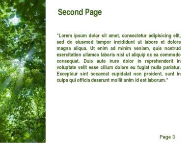 "Second Page ""Lorem ipsum dolor sit amet, consectetur adipisicing elit, sed do..."