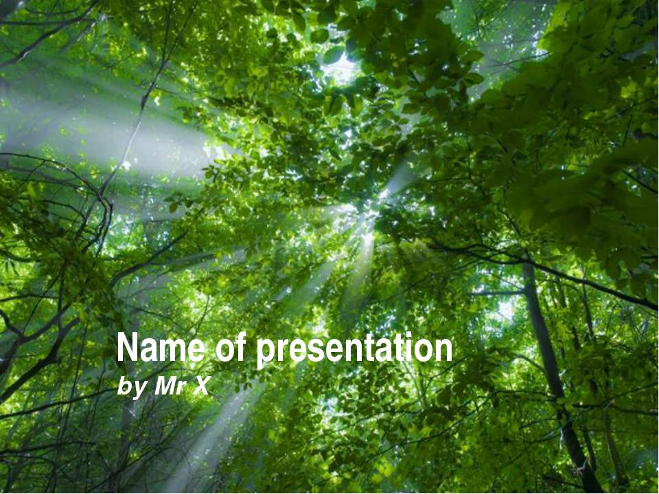 Free Powerpoint Templates Name of presentation by Mr X Free Powerpoint Templa...