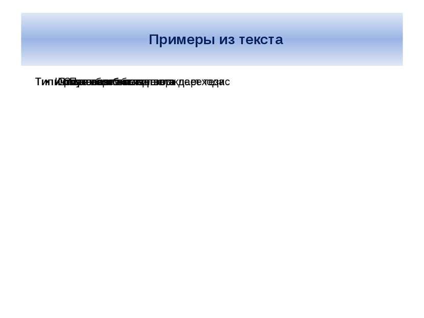 Примеры из текста