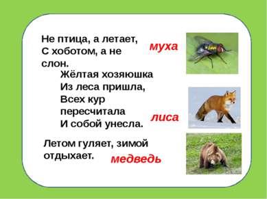 Не птица, а летает, С хоботом, а не слон. Жёлтая хозяюшка Из леса пришла, Все...