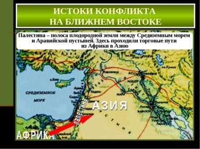 Палестина – полоса плодородной земли между Средиземным морем и Аравийской пус...