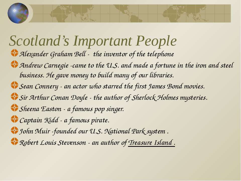Scotland's Important People Alexander Graham Bell - the inventor of the telep...