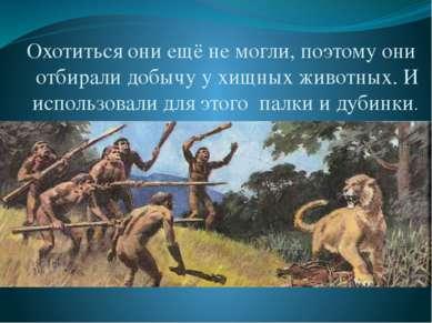 Медина Мекка Охотиться они ещё не могли, поэтому они отбирали добычу у хищных...