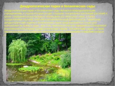 Дендрологические парки и ботанические сады Дендрологические парки и ботаничес...