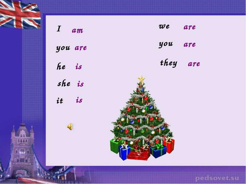 I am you are he is she is it is we you they are are are