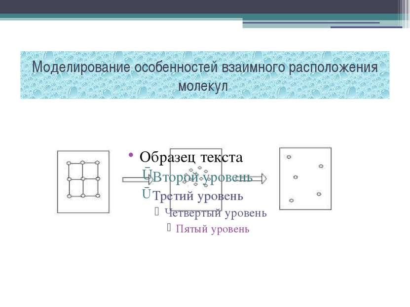 Моделирование особенностей взаимного расположения молекул