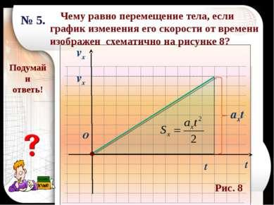 Чему равно перемещение тела, если график изменения его скорости от времени из...