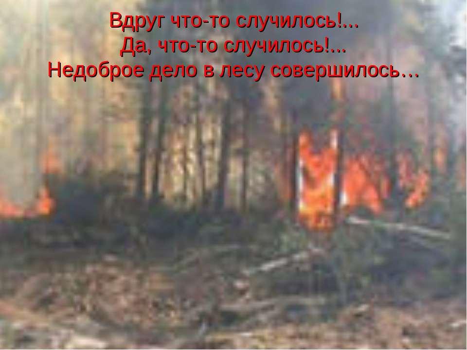 Вдруг что-то случилось!... Да, что-то случилось!... Недоброе дело в лесу сове...