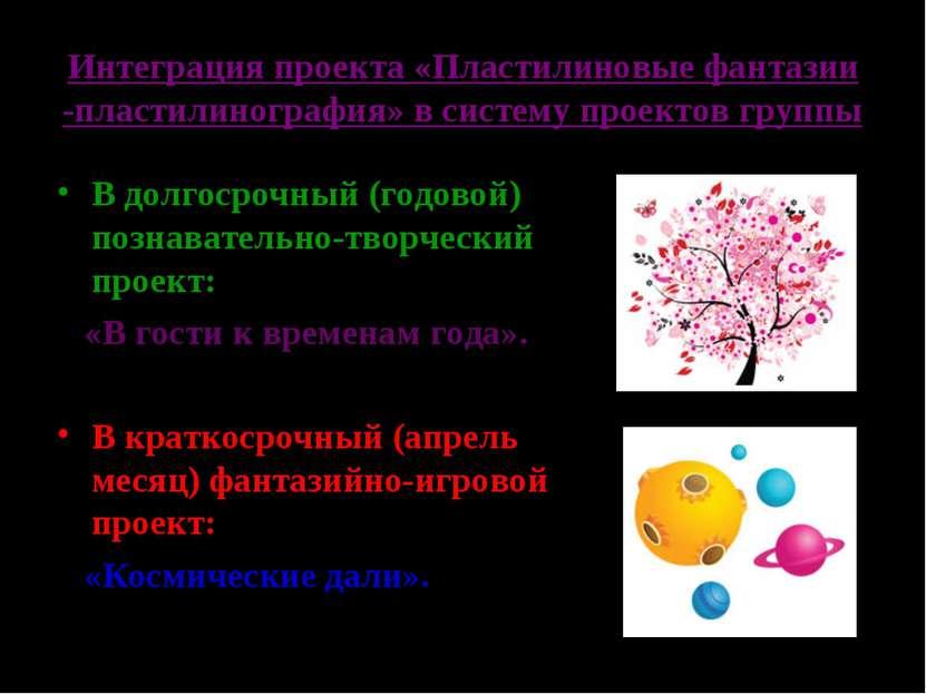 Интеграция проекта «Пластилиновые фантазии -пластилинография» в систему проек...