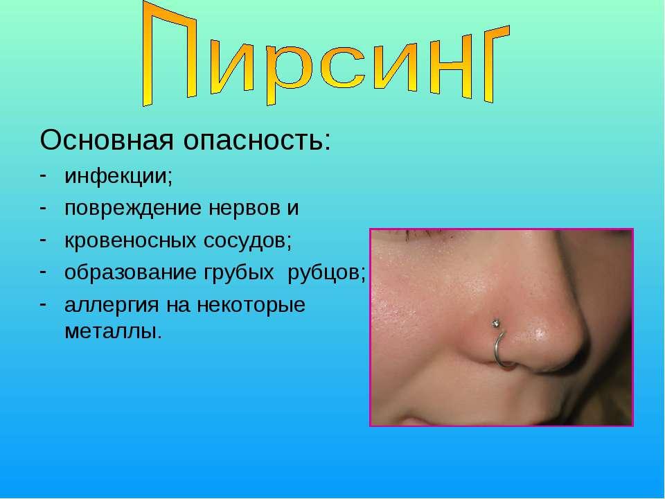 Основная опасность: инфекции; повреждение нервов и кровеносных сосудов; образ...
