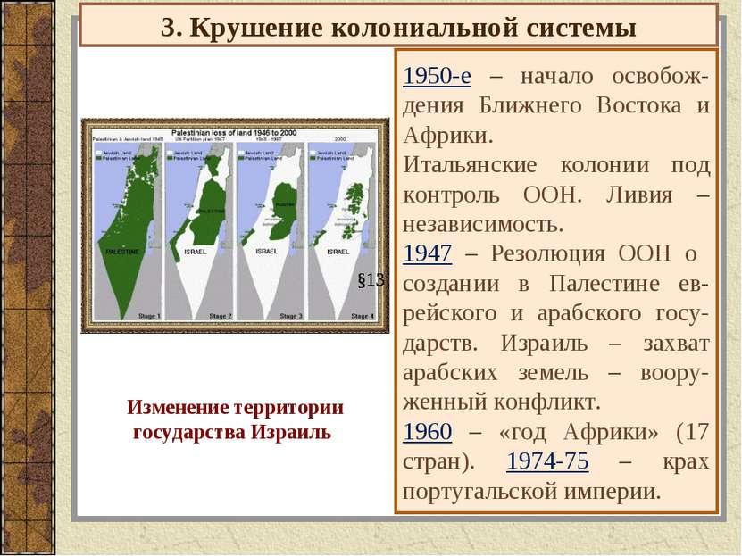 3. Крушение колониальной системы 1950-е – начало освобож-дения Ближнего Восто...