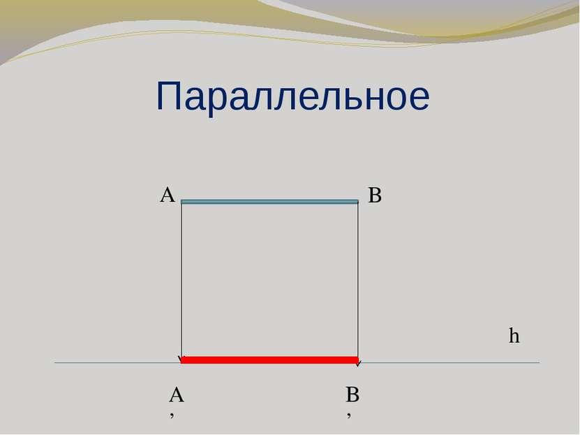 Параллельное h A B A' B'