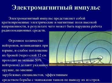 Электромагнитный импульс Электромагнитный импульс представляет собой кратковр...