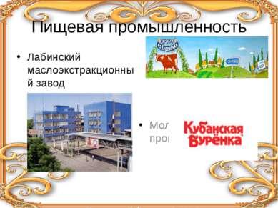 Пищевая промышленность Лабинский маслоэкстракционный завод Молочное производство