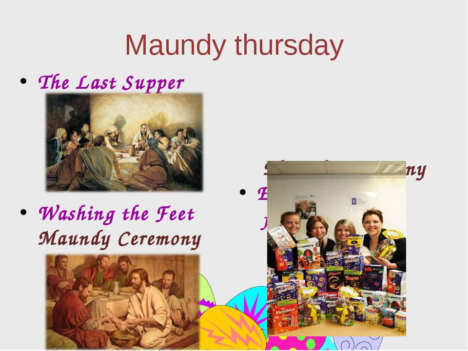 Maundy thursday The Last Supper Washing the Feet Maundy Ceremony Maundy Cerem...