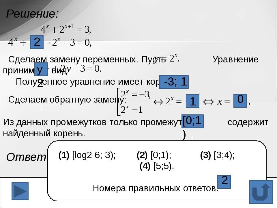 Укажите промежуток, содержащий корень уравнения Решение. 1) (9;11) 2) (9;10) ...