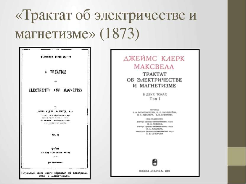«Трактат об электричестве и магнетизме» (1873)