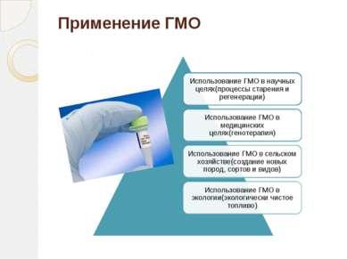 Применение ГМО