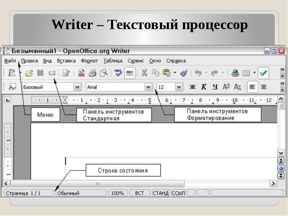 Writer – Текстовый процессор