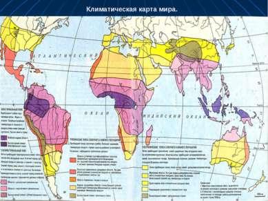 Климатическая карта мира.