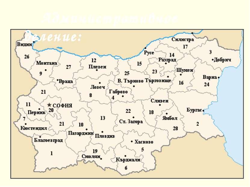 Административное деление: