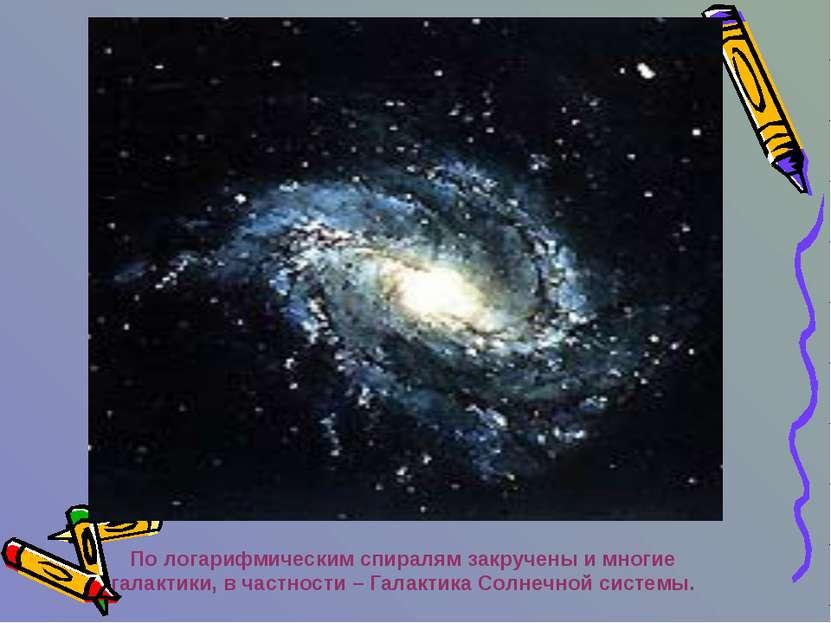 По логарифмическим спиралям закручены и многие галактики, в частности – Галак...