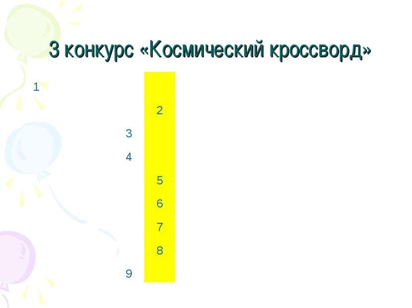 3 конкурс «Космический кроссворд» 1       2        3      ...