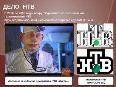 С2000по2003 годывокруг журналистского коллектива телекомпанииНТВ происх...